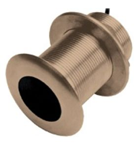 Xdcr B619 8-pin,Tilted Bronze Thru-Hull,12º,200/77kHz