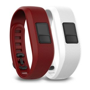 vivofit 3 replacement band - Marsala and White (Regular)