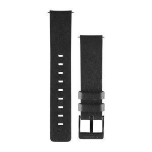 vívomove Black Leather Watch band