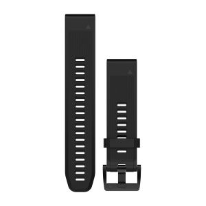QuickFit 22mm Black Silicone Band