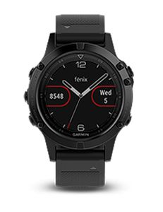 fenix 5 Sapphire - Black with Black Silicone Band
