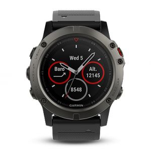 fenix 5X Sapphire - Slate Grey with Black Band
