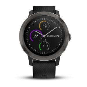 vivoactive 3, Slate Bezel with Black Silicone Bands