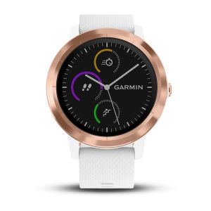 vivoactive 3 Rose Gold Bezel with White Silicone Bands